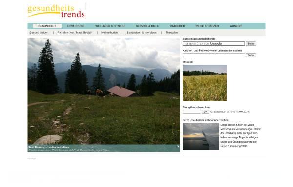 Vorschau von www.gesundheitstrends.de, Gesundheitstrends