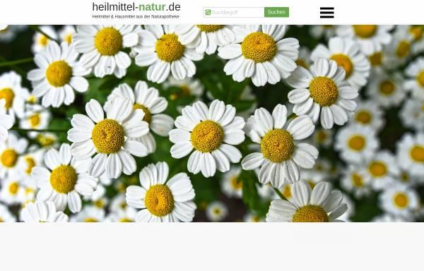 Vorschau von www.heilmittel-natur.de, Heilmittel und Hausmittel auf Basis der Natur