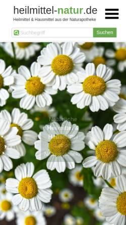 Vorschau der mobilen Webseite www.heilmittel-natur.de, Heilmittel und Hausmittel auf Basis der Natur