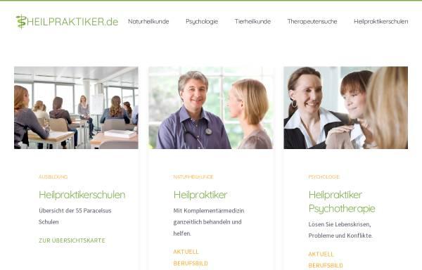 Vorschau von www.heilpraktiker.de, Heilpraktiker Informationsportal