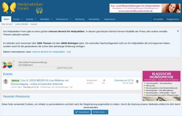 Vorschau von www.heilpraktiker-foren.de, Heilpraktiker-Foren