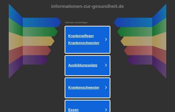 Vorschau von www.informationen-zur-gesundheit.de, Informationen zur Gesundheit