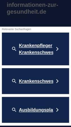 Vorschau der mobilen Webseite www.informationen-zur-gesundheit.de, Informationen zur Gesundheit