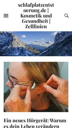 Vorschau der mobilen Webseite www.schlafplatzentstoerung.de, Schlafplatzentstörung