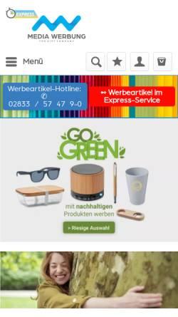 Vorschau der mobilen Webseite www.media-werbung.de, Media Werbung, Inh. Tobias Wiegers