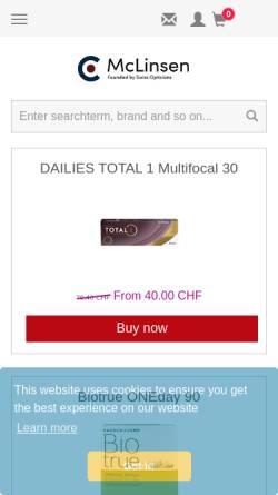 Vorschau der mobilen Webseite www.mclinsen.ch, McLinsen.ch GmbH