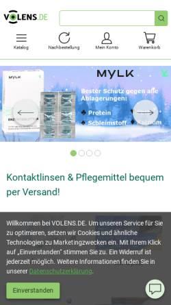 Vorschau der mobilen Webseite www.volens.de, Volens GmbH & Co. KG