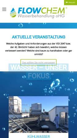 Vorschau der mobilen Webseite www.flowchem.de, Flowchem