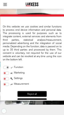 Vorschau der mobilen Webseite www.lewatit.de, Lanxess Deutschland GmbH