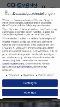 Vorschau der mobilen Webseite www.ochsmann-chemie.de, Ochsmann Chemie