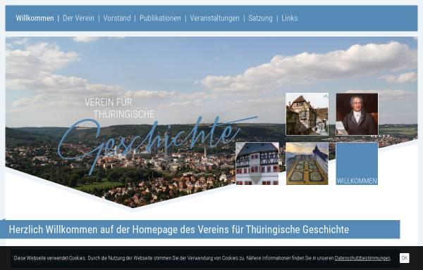 Vorschau von www.vthg.de, Verein für Thüringische Geschichte e.V.