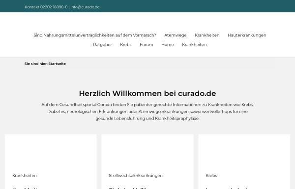 Vorschau von www.curado.de, Curado