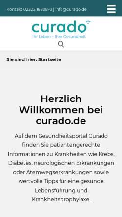 Vorschau der mobilen Webseite www.curado.de, Curado