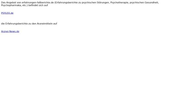 Vorschau von www.erfahrungen-fallberichte.de, Erfahrungen und Fallberichte