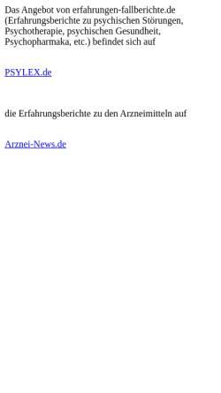 Vorschau der mobilen Webseite www.erfahrungen-fallberichte.de, Erfahrungen und Fallberichte
