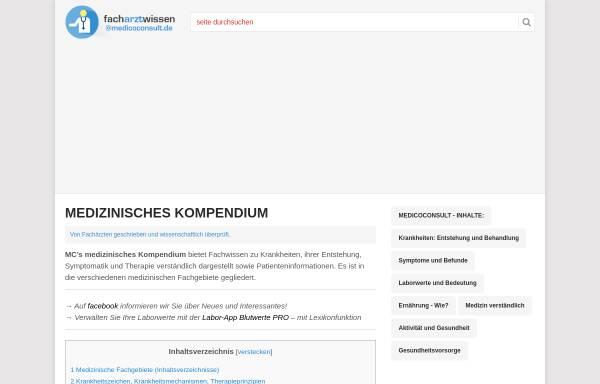 Vorschau von www.medicoconsult.de, Innere Medizin Kompendium