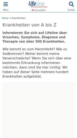 Vorschau der mobilen Webseite www.lifeline.de, Lifeline