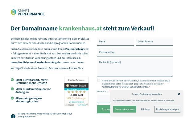 Vorschau von www.krankenhaus.at, Med Portal - Krankenhaus.at