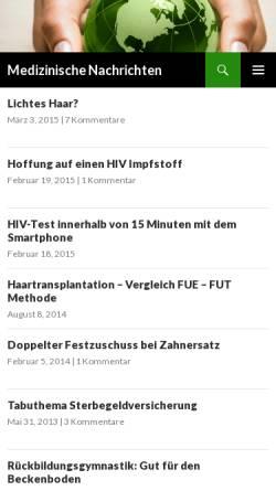 Vorschau der mobilen Webseite www.blogmed.de, Medizinische Nachrichten