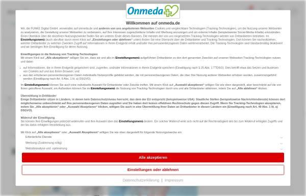 Vorschau von www.onmeda.de, Onmeda: Krankheiten