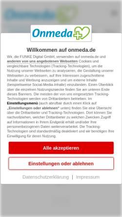 Vorschau der mobilen Webseite www.onmeda.de, Onmeda: Krankheiten