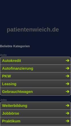 Vorschau der mobilen Webseite patientenwieich.de, Patienten Wie Ich