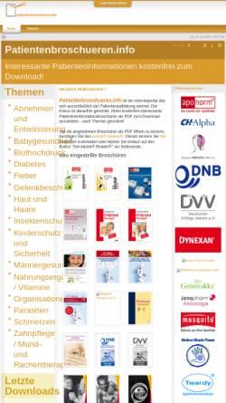Vorschau der mobilen Webseite www.patientenbroschueren.info, Patientenbroschüren