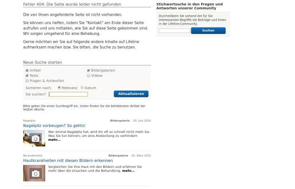 Vorschau von www.qualimedic.de, Qualimedic: Krankheiten