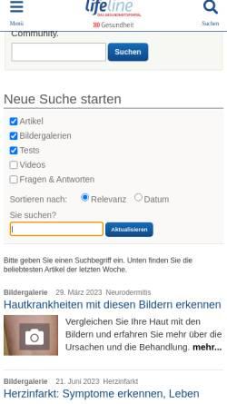 Vorschau der mobilen Webseite www.qualimedic.de, Qualimedic: Krankheiten