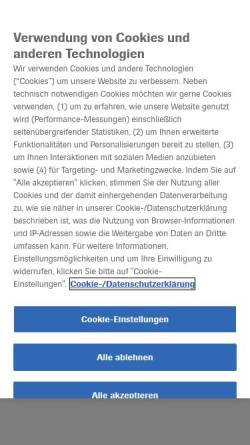 Vorschau der mobilen Webseite www.roche.de, Roche Pharma
