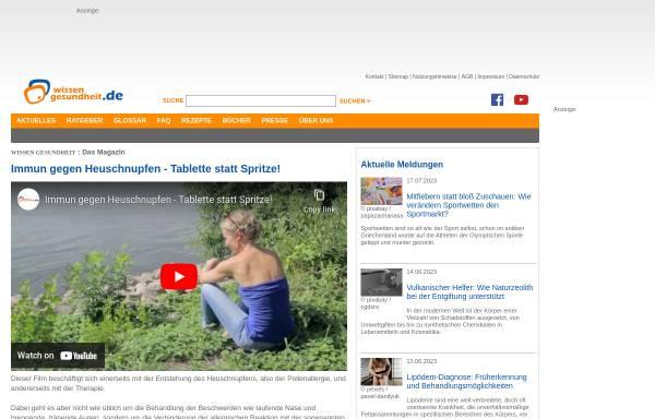 Vorschau von www.wissen-gesundheit.de, Wissen-gesundheit.de