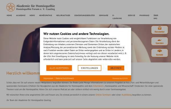 Vorschau von www.homoeopathie-akademie.de, Akademie für Homöopathie