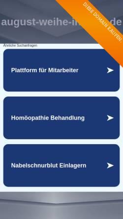 Vorschau der mobilen Webseite www.august-weihe-institut.de, August-Weihe-Institut für Homöopathische Medizin