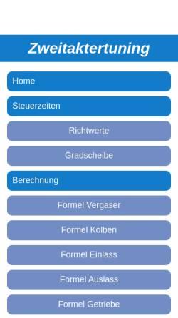 Vorschau der mobilen Webseite www.zweitaktertuning.de, ZweitakterTuning.de