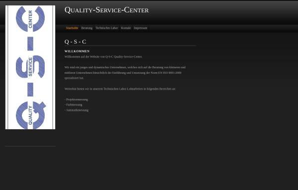 Vorschau von www.quality-service-center.de, Q-S-C Quality-Service-Center