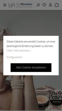 Vorschau der mobilen Webseite www.age-attraction.de, Age Attraction Kosmetik GmbH