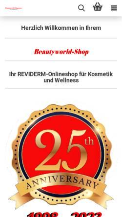 Vorschau der mobilen Webseite www.beautyworld-shop.com, Beautyworld-Shop, Zofia Behnert