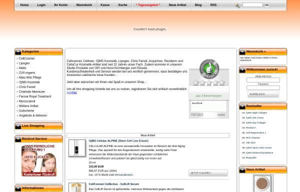 Vorschau von www.ekosmetix.de, Kosmetik Institut Weissert e.K.
