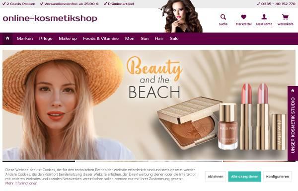 Vorschau von online-kosmetikshop.de, Online-Kosmetikshop, Jane Giebel