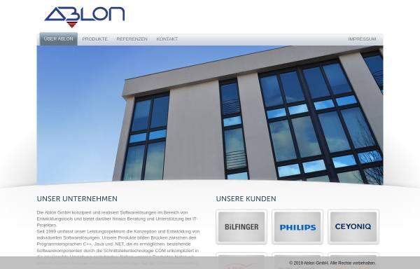 Vorschau von www.ablon.de, Ablon GmbH