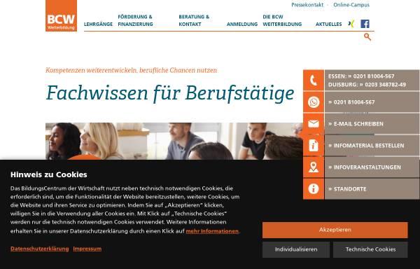 Vorschau von www.bcw-essen.de, BCW - BildungsCentrum der Wirtschaft