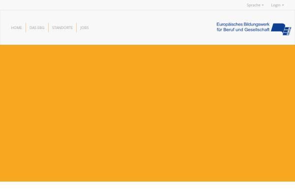 Vorschau von www.ebg.de, Europäische Bildungswerke für Beruf und Gesellschaft e. V. (EBG)