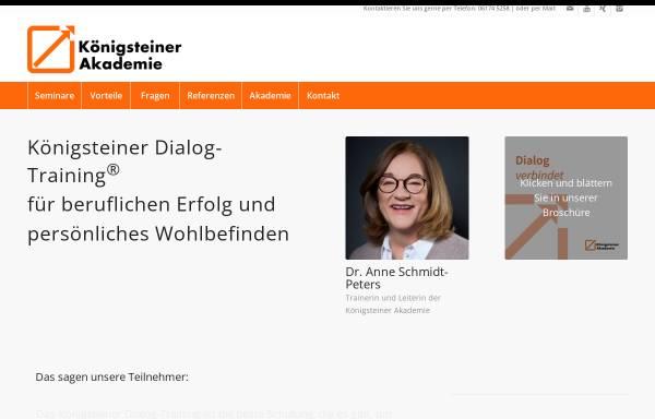Vorschau von www.koenigsteiner-akademie.de, Königsteiner Akademie - Gesellschaft für persönliche Weiterbildung mbH