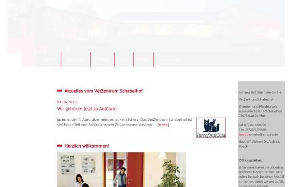 Vorschau von www.tierklinik-schabelhof.de, Pferdeklinik und Kleintierpraxis Schabelhof