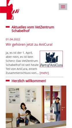 Vorschau der mobilen Webseite www.tierklinik-schabelhof.de, Pferdeklinik und Kleintierpraxis Schabelhof