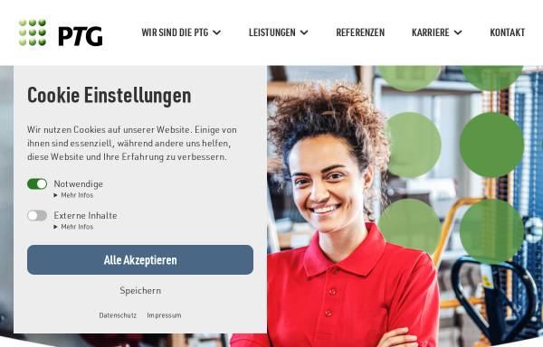 Vorschau von www.ptg.de, PTG Projekt- und Trainingsgesellschaft gGmbH