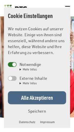 Vorschau der mobilen Webseite www.ptg.de, PTG Projekt- und Trainingsgesellschaft gGmbH