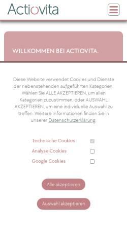 Vorschau der mobilen Webseite www.actiovita.de, actioVITA - 24 Stunden Pflege