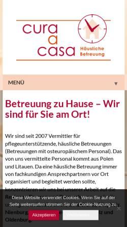 Vorschau der mobilen Webseite 24-stunden-betreut.de, Cura a Casa - 24-Stunden-Betreuung zu Hause