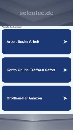 Vorschau der mobilen Webseite www.selcotec.de, Selcotec GmbH